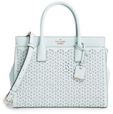 Kate Spade Cameron Street - Candace Perforated Leather Satchel - Blue