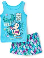 Komar Kids Blue 'You Can Call Me on My Shell' 4-D Mermaid Pajama Set - Girls