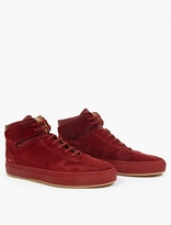 Common Projects Suede Hi-Top Baseball Sneakers