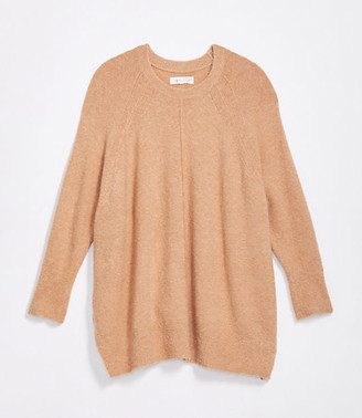 LOFT Lou & Grey Seamed Poncho Sweater