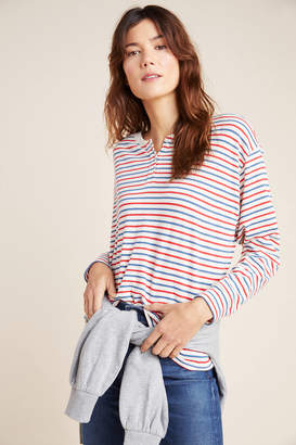 Velvet by Graham & Spencer Holly Striped Henley Top