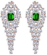 Jewel Zone US Dangle Earrings April Gemstone Birthstone 14k Rose Gold Over Sterling Silver