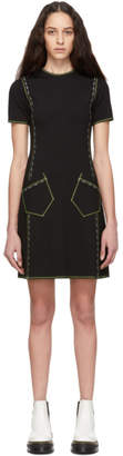 McQ Black Contrast Line Dress