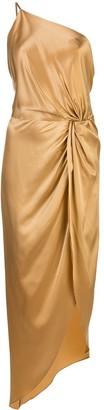 Mason by Michelle Mason Twist Knot Asymmetric Dress