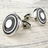 Tales From The Earth Stainless Steel Bullseye Cufflinks