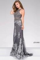 Jovani Sleeveless Embroidered Prom Dress 48638