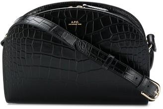 A.P.C. Crocodile-Effect Cross Body Bag