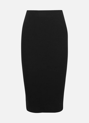 Ninety Percent Ribbed Organic Cotton-blend Jersey Midi Skirt - Black