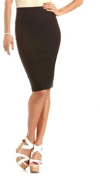 Charlotte Russe Millennium Midi Length Pencil Skirt