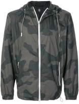 Eleventy camouflage print hooded bomber jacket