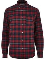 River Island Mens Red casual check shirt