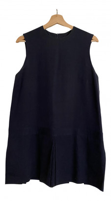 Jacquemus La Piscine Navy Wool Dresses