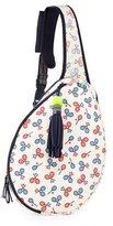 Tory Sport Racquet-Print Tennis Racket Sling Bag