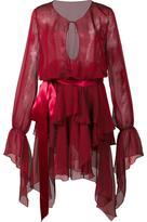 Alexandre Vauthier ruffled semi sheer dress