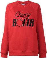 Ganni Sweatshirt with Cherry Bomb Embroidery