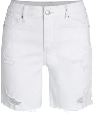 Joe's Jeans The Bermuda Distressed Denim Shorts