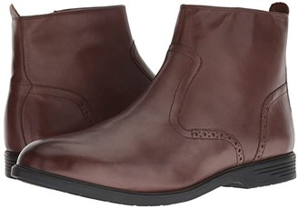 Hush Puppies Shepsky Zip Boot (Brown Leather) Men's Boots