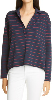 Frank And Eileen Striped Long Sleeve Henley T-Shirt