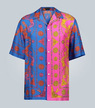 Versace Barocco Western printed silk shirt