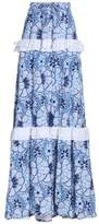 Alexis Ruffle-Trimmed Printed Broderie Anglaise Cotton Maxi Skirt
