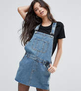Asos Denim Overall Dress in Midwash Blue