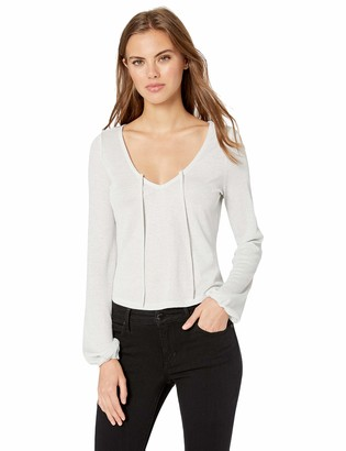 Cupcakes And Cashmere Women's Fitch Metallic Knit w/Front tie