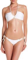 Luli Fama Deep V-Neck Halter Bikini Top