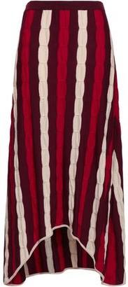 Marni Striped Crochet-knit Wool Midi Skirt