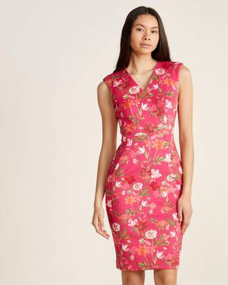 Calvin Klein Hibiscus Floral Sheath Dress