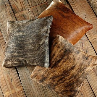 "Pergamino Brindle DS Cowhide Pillow Cover 15""x15"""