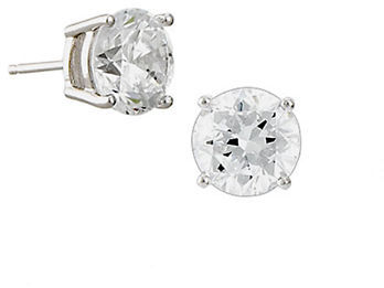 Crislu Platinum-Finished Cubic Zirconia Stud Earrings