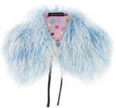 Charlotte Simone Powder Blue Fur Collar