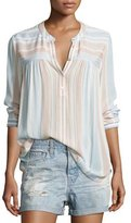 AG Adriano Goldschmied Jess Long-Sleeve Striped Shirt
