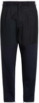 Longjourney Relaxed-fit patchwork wool trousers