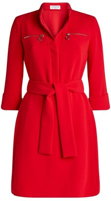 Claudie Pierlot Zip-Detail Skater Dress