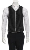 Miharayasuhiro Striped Button-Up Vest w/ Tags