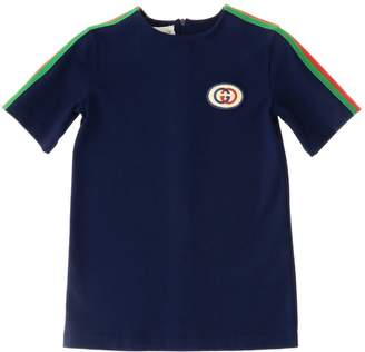 Gucci Tunic Top With Web Bands And Logo