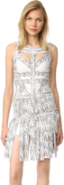 Herve Leger Joseline Fringe Dress