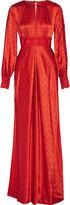 Temperley London Helm embroidered silk-satin maxi dress