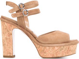 Twin-Set wooden platform sole sandals - women - Leather - 36