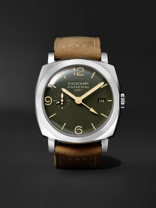 Panerai Radiomir GMT Automatic 45mm Stainless Steel and Leather Watch, Ref. No. PAM00998 - Men - Green
