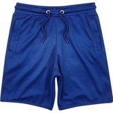 River Island Boys blue mesh jersey shorts
