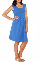 Angel Maternity Women's Stretch Cotton Maternity Dress