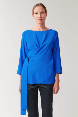 Cos BELTED WRAP TOP