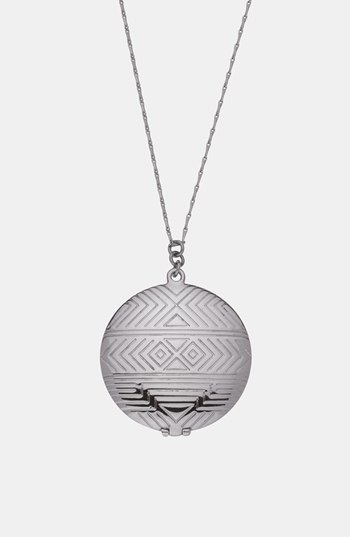 House Of Harlow Medallion Locket Pendant Necklace