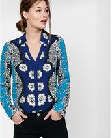Express original fit floral portofino shirt