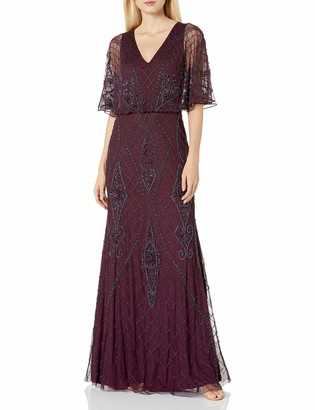 Adrianna Papell Women's Beaded Blouson Gown