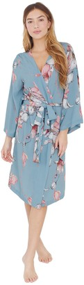 Plum Pretty Sugar Light Blue Floral Midi Robe