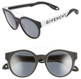 Givenchy Women's 50Mm Round Sunglasses - Black/ Gold