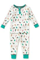 Starting Out Baby Girls 12-24 Months Christmas Henley Long-Sleeve Top & Pants Pajama Set
